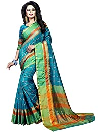 Vatsla Enterprise Women's Cotton Saree With Blouse Piece(VPYSMULTISAREE_MULTI_COLOUR)