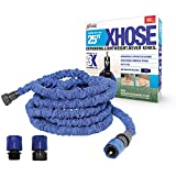 XHose The Official Expanding Garden Hose Pipe with BONUS adaptor, 25ft, Blue
