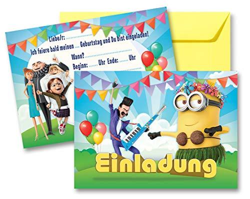 nladungskarten Geburtstag Kinder Mädchen Jungen + Umschläge ()