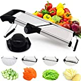 CHEFLY Large Stainless Steel Vegetable Mandolin Slicer Mandoline Julienne French Fry Cutter All