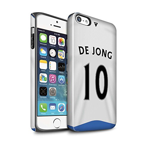 Offiziell Newcastle United FC Hülle / Glanz Harten Stoßfest Case für Apple iPhone SE / Pack 29pcs Muster / NUFC Trikot Home 15/16 Kollektion De Jong