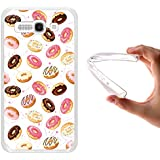 Funda Alcatel One Touch Pop C9, WoowCase [ Alcatel One Touch Pop C9 ] Funda Silicona Gel Flexible Donuts, Carcasa Case TPU Silicona - Transparente
