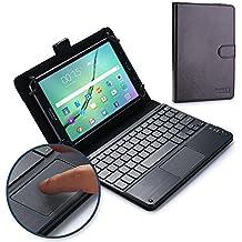 """Funda-teclado 8 - 8.9"""" inch, Funda-teclado, COOPER TOUCHPAD EXECUTIVE Funda 2 en 1, cuero teclado, ratón inalámbrico Bluetooth, soporte 8.9"""" 8.0"""" inch (Negro)"""