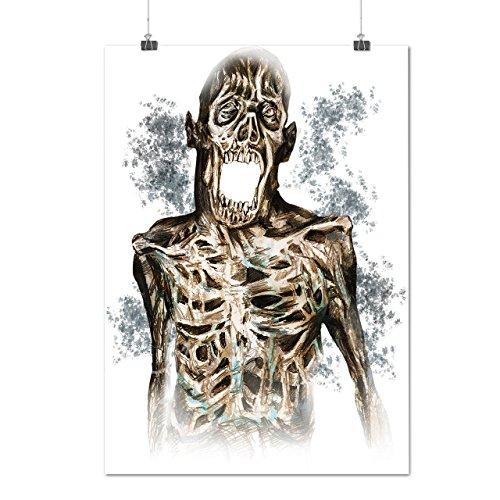 Tot Gehirn Leiche Zombie Zombie Gesicht Mattes/Glänzende Plakat A3 (42cm x 30cm) | (Kostüm Leiche Kopflose)