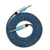 smallelectric 3,5-mm 4er Pack Nylon geflochtenen-Audio Kabel (150/1,5m) verwicklungsfreies AUX-Kabel für Beats Kopfhörer, iPods, iPhones, iPads, Home/Auto-Stereoanlagen und mehr (Multicolor) - 5
