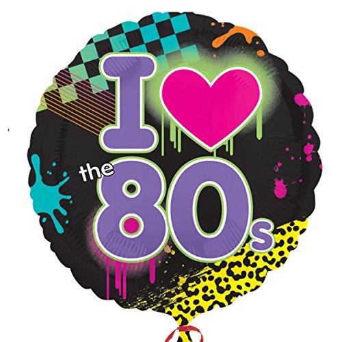 amscan Totally 80s Standard HX Folie Ballons