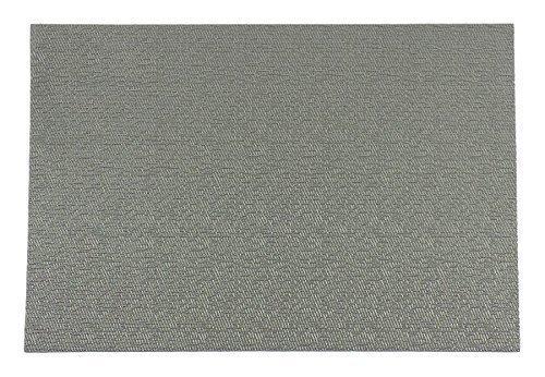 2 x Uni Tissé vinyle gris argenté Set de table l17.5 \\