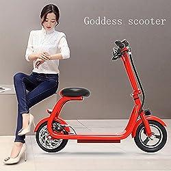 Scooter Eléctrico HD ,Rojo,10 pulgadas)