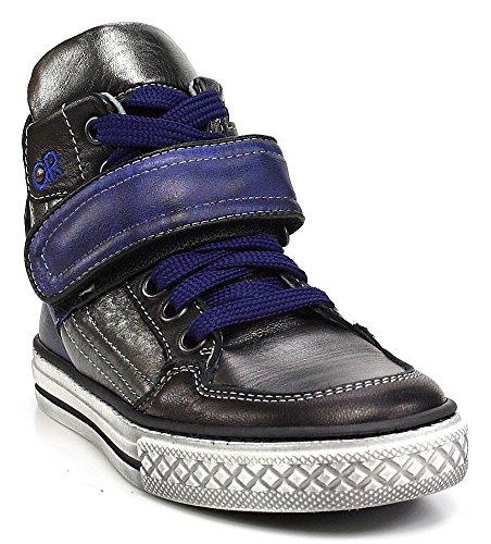 Sneaker Velcro Graziano Vado Laço Prata Cobalto Metálico Azul De 5z8nZqRw