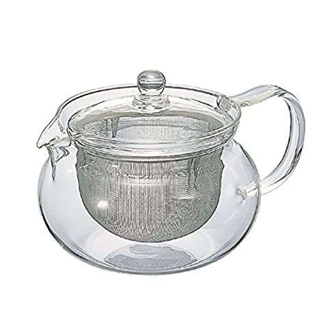 Hario CHJMN-70T 700 ml 1-Piece Glass Chacha Kyusu Maru Tea Pot