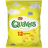 Walkers Quavers Cheese Snacks, 16 g, Pack of 12