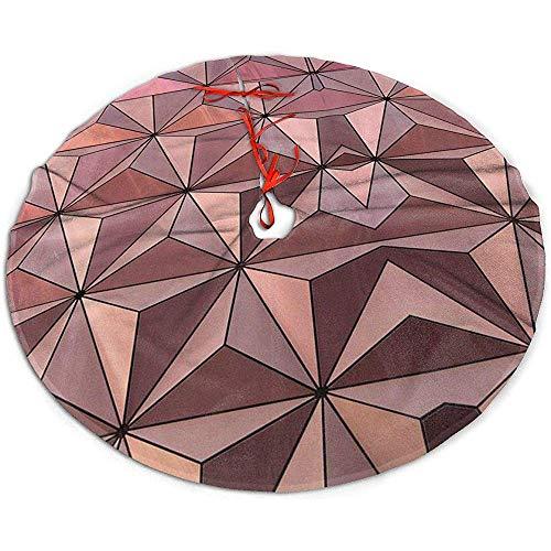 Egoa Weihnachtsbaumdecke Epcot-Architektur-Entwurf EIN Feiner Dekorativer Weihnachtsbaumrock Baum-Rock Weihnachtsbaum-Rock-Feiertags-Party 91cm
