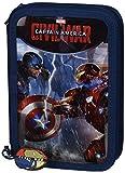 Captain America Plumier-doppia, 14 x 21 cm (Safta 411609054)