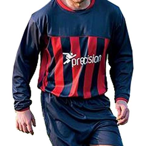 Precisión Valencia Club de fútbol entrenamiento partidarios camisa/camiseta de juego multicolor azul oscuro y rojo Talla:46-48