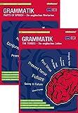 mindmemo Lernfolder 2er Set - The Tenses + Parts of Speech (englische Zeiten + Wortarten) - Zusammenfassung Grammatik Lernhilfe PremiumEdition (foliert)