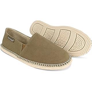normani Sommer Schuhe - Klassische Espadrillas - Flache Stoffschuhe - Freizeitschuhe für Damen und Herren [Gr. 36-46] Farbe Khaki Style 2 Größe 46