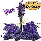 12x Lavendelsäckchen Bester frischer Lavendel - 120g Lavendelblüten Goût de...