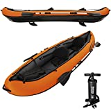 WEILANDEAL Bestway Kayak Hydro-Force avec Rames et Pompe 65052Dimensions lorsqu'il est gonfle : 330 x 94 x 48 cm (L x l x H) cano? Kayak