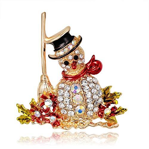 Weihnachtsschmuck Diamant Schneemann Brosche Corsage Kleidung Dekor