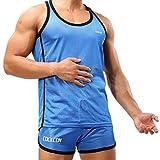 Huntvp Completo SportivoQuesto vestito di forma fisica è fatto dello spandex. La camicia e i pantaloncini sono perfetti per lo sport e fitness.La camicia ha un'eccedenza eccellente. Non attacca al corpo, buona flessibilità. Dimen...
