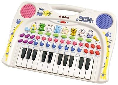 Simba 106833600 My World Music - Piano con sonidos de animales, 39 x 28 cm [Importado de Alemania] por Simba Toys