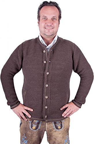 Almwerk Herren Trachten Strick Jacke Modell Xaver, Farbe:Braun;Größe:54 - 3