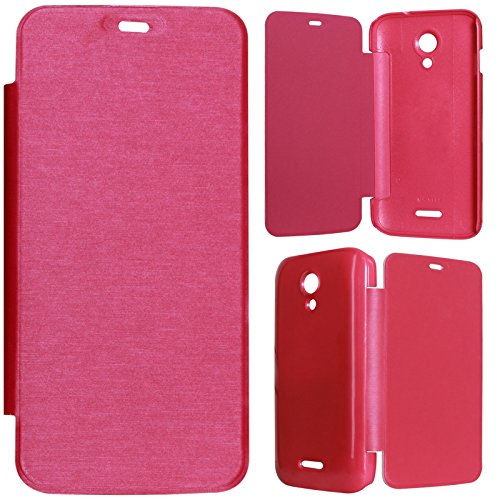 DMG Durable Protective PU Leather Flip Book Cover Case for Micromax Canvas A114 2.2 - Magenta  available at amazon for Rs.199