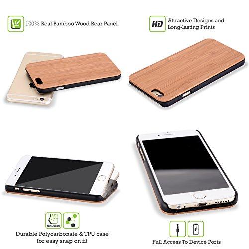 Head Case Designs Camping-car Surfeurs Étui Coque En Bois De Bambou Pour Apple iPhone 6 / 6s Surf De Vague