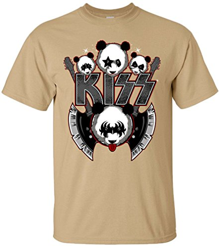 PAPAYANA - KIZZ-ROCK - Herren T-Shirt - GLAM ROCK HARDROCK Glamour MUSIC BAND CONCERT Khaki