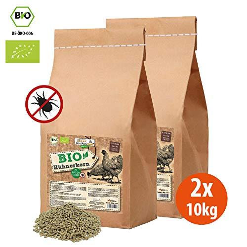 WachtelGold Bio-Hühnerkorn 20kg - Hühnerfutter Pellets - Bio Legekorn Biofutter -