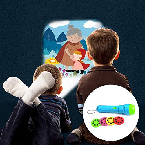 ideal als Einschlafhilfe für Baby & Kinder - Kinder Projektor Nacht Taschenlampe , Projektionslampe mit 4 Märchen und 32 Folien - Taschenlampe, Projektor, Projektionslampe, Nacht, Märchen, Kinder, GeschichteTaschenlampe, einschlafhilfen für kinder, einschlafhilfe, Baby
