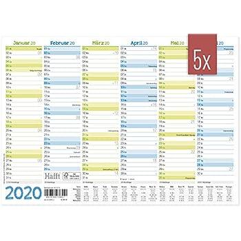 Tafelkalender 2020 Jahresplaner A5 Wandkalender Kalender Monatskalender Ferien