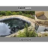Teichwerk Steinfolie 30 cm Breite - Meterware