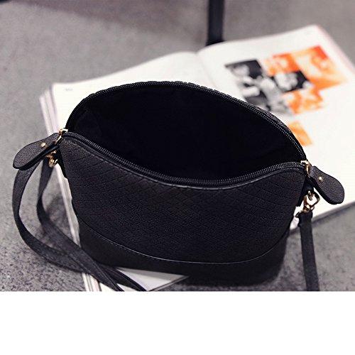 Contever® Messenger Borsa a tracolla del sacchetto di spalla per la Scuola per Youngster / Ragazza Nero