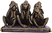 AONA India Resin Set of 3 Monkey&#