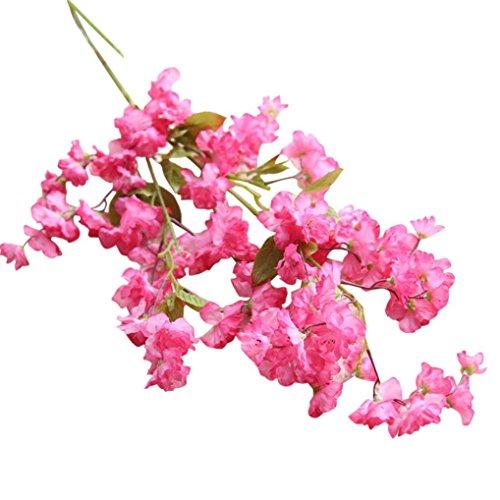 (Künstliche Fälschung Kirschblüte ❤️ Timogee Seide Blume Braut Hortensie Hausgarten-Dekor, Unechte Blumen Hortensien Floral Wedding Bouquet Party Dekor Haus Garten Party Blumenschmuck (C))