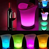 Discountseller LED à changement de couleur de fête Seau à glace 7couleurs à piles