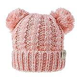 Linkay Dual-Kugel Pompom Baby-Newborn Herbst-Winter-Warmer Hut Solid Color Toddler Beanie Cap...