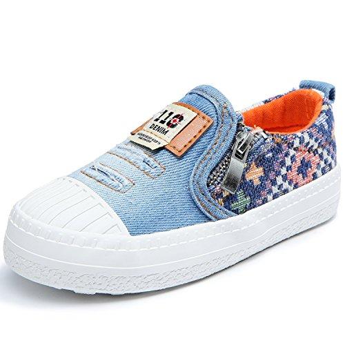 Alexis Leroy Denim Unisex-Kinder Low-Top Stoffschuhe Slipper Sneakers Hellblau