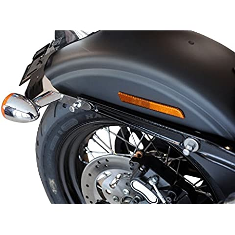 Buffalo BAG Freccia versatzkit per Harley Davidson Dyna modelli–2pezzi (in acciaio inox) - Freccia Harley Davidson