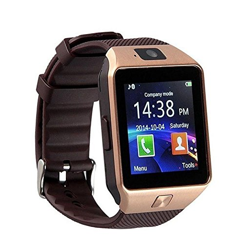 Samsung Galaxy Trend S7392 (42 mm) Compatible and Certified DZ09 Smart Watch Bluetooth Smart Watch Phone With Camera and Sim Card Support With Apps like Facebook and WhatsApp Touch Screen Multilanguage Android/IOS Mobile Phone Wrist Watch -BY MECKWELL  available at amazon for Rs.1399