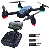 AICase JXD 518 RC Quadcopter 720P HD Camera WIFI FPV GPS Mining Point Drone 2.4GHz 6 Axis Gyro Mini Drone 360°Rotation Headless Mode + 3 Batteries by AICase