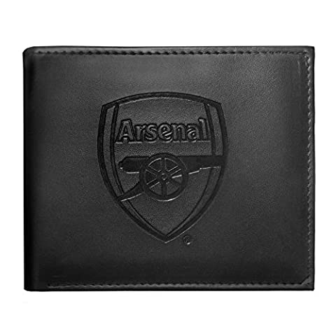 Arsenal FC Official Football Gift Embossed Crest Money Wallet Black