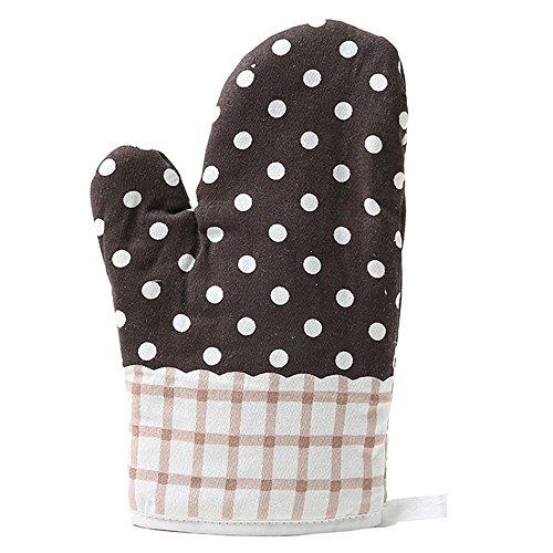 Serria® Hitzebeständig Ofenhandschuhe, Haushalt Bäckerei Hitzebeständigkeit Mikrowelle Backofen Handschuhe Kaffee