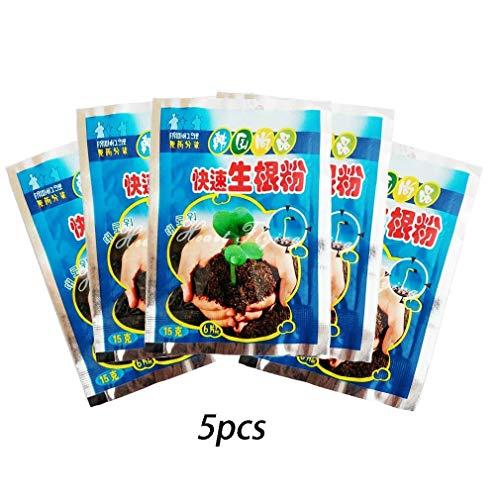 Powder Pack (Hozora 5er-Pack Rapid Rooting Powder, Extra Fast ABT Root für Pflanzenblütentransplantationen Growthy Rooting Seedling Germination Aid - Verbessern Sie die Überlebensrate)