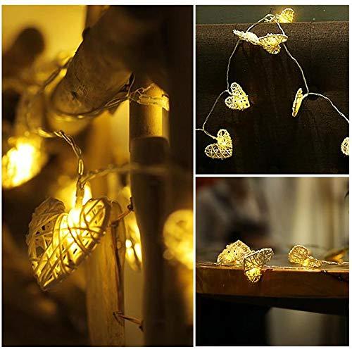 Usb Led Reben Liebesform Lampe Fee Kette Hängen Hohle Weihnachtsbeleuchtung Outdoor Girlande Hochzeitsdekoration Weiß 1,2-10 Meter -