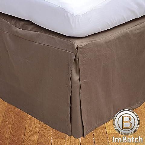600TC 100% cotone egiziano, finitura elegante scatola salva Bedskirt, pieghettato,