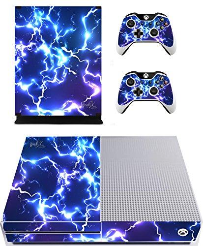 Blue Electric Sticker/Skin Xbox One S Konsole und Fernbedienung Controller Aufkleber, XBS4