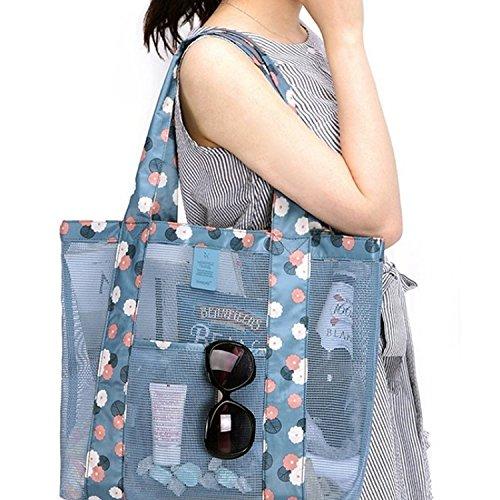 Butterme Sommer Ineinander greifen Strandtasche Tasche Schultertasche Handtasche Tote für Frauen, Kinder Spielzeug (Blau) (Handtasche Tote Korb)