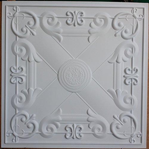 cameo-dalles-de-plafond-blanc-mat-cafe-pub-shop-art-decoration-murale-panneaux-pl22-lot-de-10-pcs
